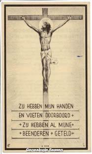 bidprentje Jacobus Richardus Hubertus Schreurs (afbeelding)