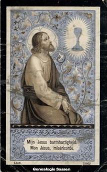 bidprentje Leonardus Antonius Sassen (afbeelding)