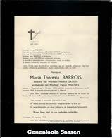 overlijdensannonce Maria Theresia Barrois
