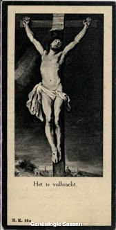bidprentje Hubertus Johannes Marinus Sassen (afbeelding)