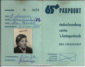 65+ pas Jacqueline Johanna Leonarda Sassen