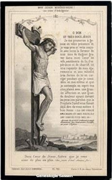 bidprentje Johanna Leonarda Jacoba Sassen (afbeelding)