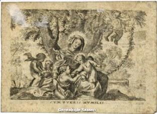 bidprentje Maria Antonis Sassen (afbeelding)