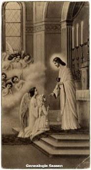 communieprentje Maria Johanna Josephina Odilia Sassen Clingh (afbeelding)