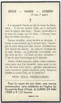bidprentje Mathieu Florent Joseph Lagasse (tekst)